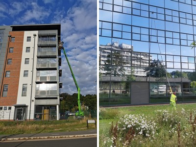 Window Cleaning Tall buildings and Large Expanses